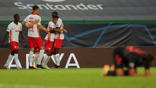 RB Leipzig venció 2-1 a Atlético de Madrid