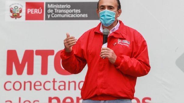 El ministro de Transportes y Comunicaciones, Carlos Estremadoyro, dijo que