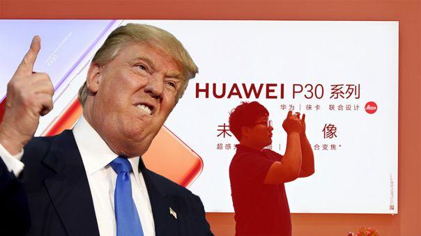 Donald Trump sigue con sus ataques hacia Huawei.