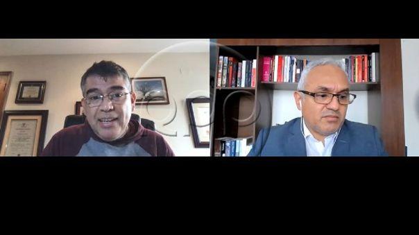 Julio Guzmán, líder del Partido Morado, en entrevista con RPP Noticias.