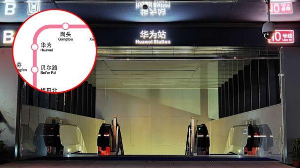 La Estación Huawei pertenece a la Línea 10 del Metro de Shenzhen.