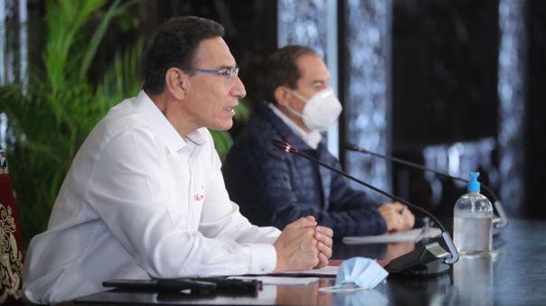 Martín Vizcarra y el premier, Walter Martos