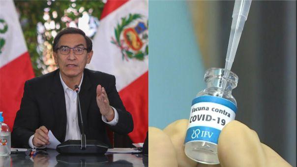 Martín Vizcarra brindó los avances que ha realizado el gobierno en adquirir la vacuna contra la COVID-19.