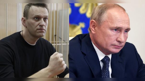 Alexéi Navalni y Vladimir Putinn