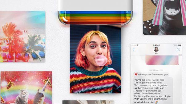 Hi-Print lleva los clásicos colores de Polaroid.