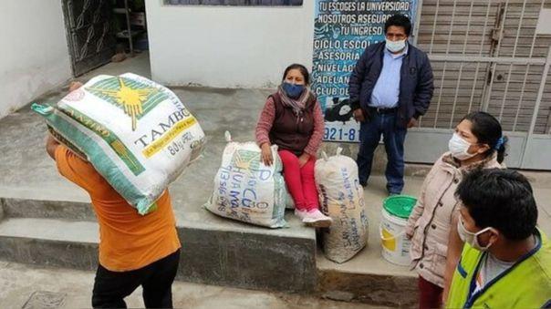 """La iniciativa """"Apachicuy"""" ha permitido brindar alimentos a familias urbanas  vulnerables durante la pandemia."""