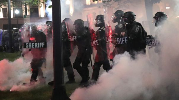 US-PROTESTS-CONTINUE-AFTER-KENOSHA,-WI-POLICE-SHOOTING-OF-JACOB-