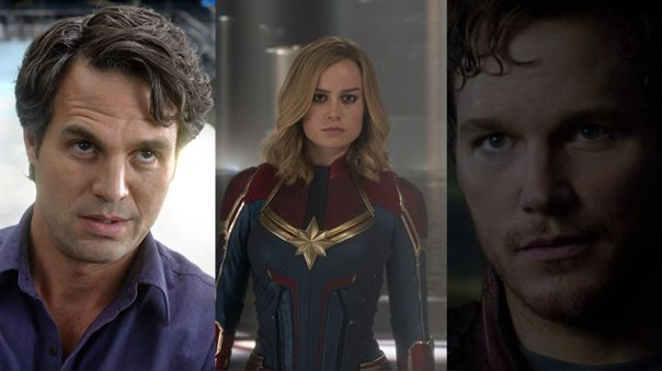 Mark Ruffalo, Brie Larson y Chris Pratt