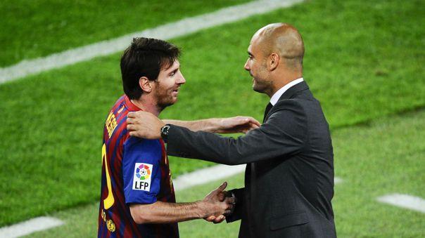 Messi y Guardiola durante su enfrentamiento por Champions League en 2015