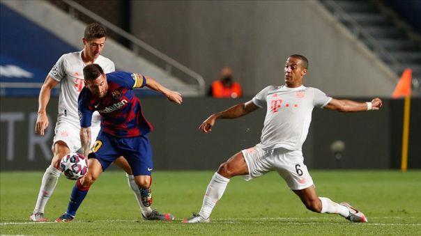 Thiago durante el 8-2 de Bayern Munich ante Barcelona