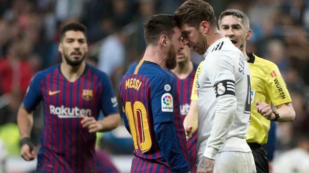 Ramos y Messi enfrentados en el Clásico del 2019