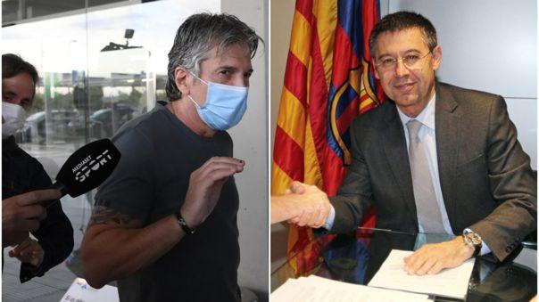 Jorge Messi y Josep Bartomeu, presidente de Barcelona