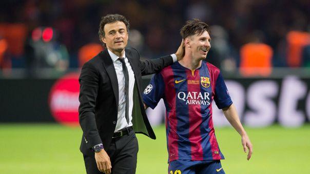 Messi y Luis Enrique ganaron la última Champions League para Barcelona