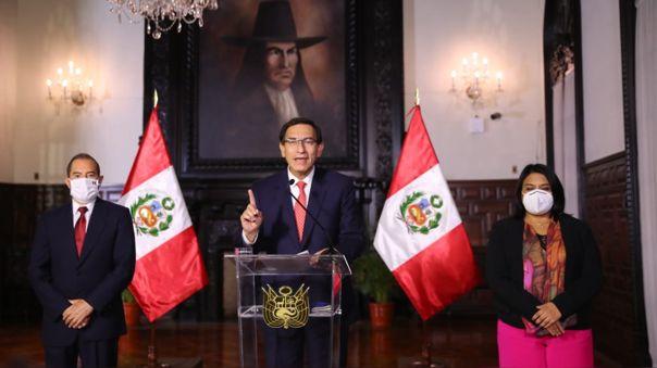 El presidente Vizcarra ofreció un Mensaje a la Nación esta noche.