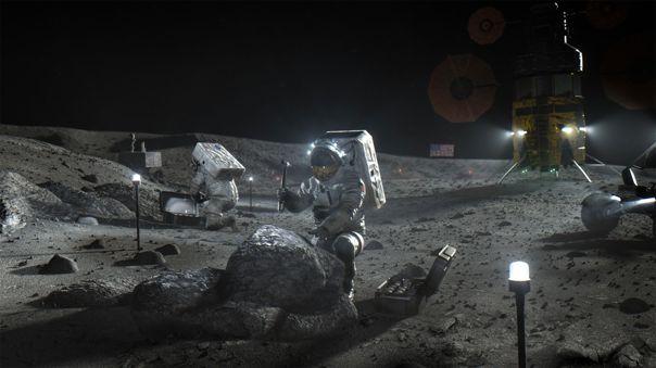 La extracción de materiales lunares permitirá obtener recursos para la construcción de infraestructura en el satélite