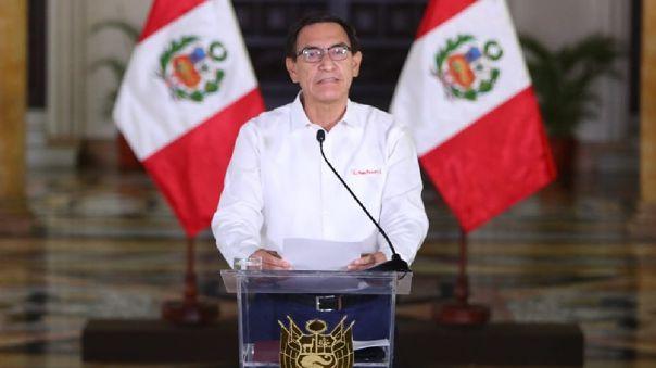 El presidente se dirigió a los peruanos mediante un Mensaje a la Nación.