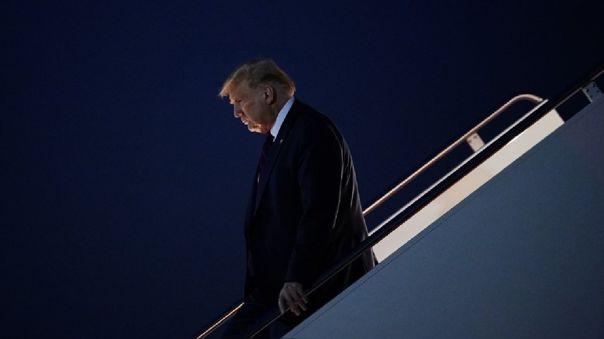 Trump habló ante unos pocos miles de personas, la gran mayoría de ellas sin mascarilla.