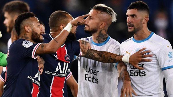 Neymar fue expulsado en el partido contra Marsella