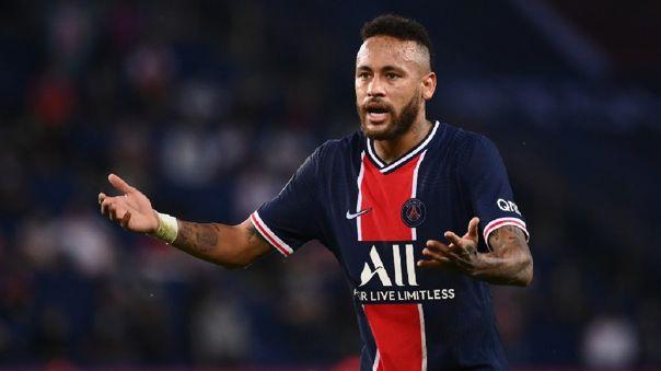 Neymar fue expulsado en la Ligue 1 en el clásico contra Marsella