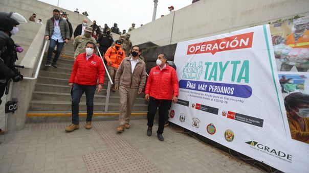 El presidente Vizcarra , junto a ministros de Estado, lidera la operación Tayta en Villa María del Triunfo.