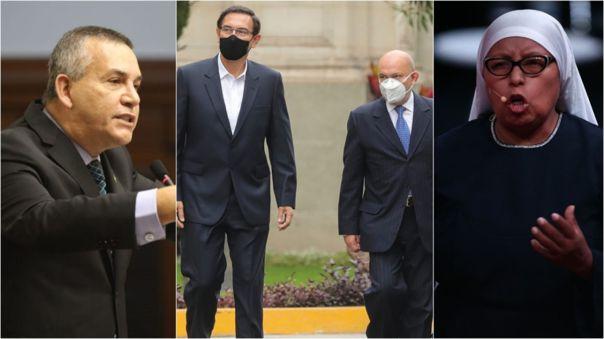 Esta mañana, el presidente Martín Vizcarra llegó junto a su abogado al Parlamento, antes de partir a la ciudad de Trujillo.