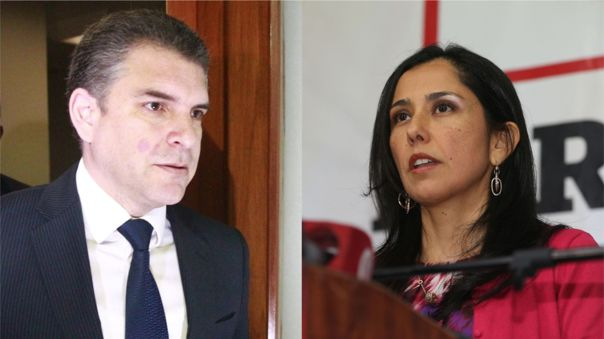 Rafael Vela y Nadine Heredia.