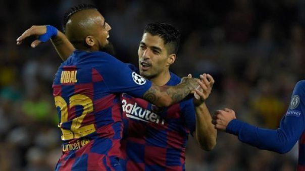 Luis Suárez a Arturo Vidal: