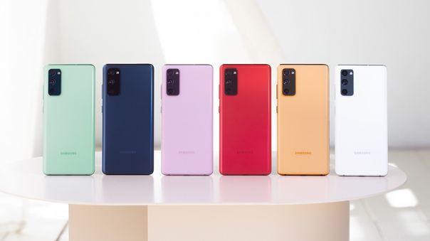 Galaxy S20 Fe para cada gusto: llegará en seis colores.