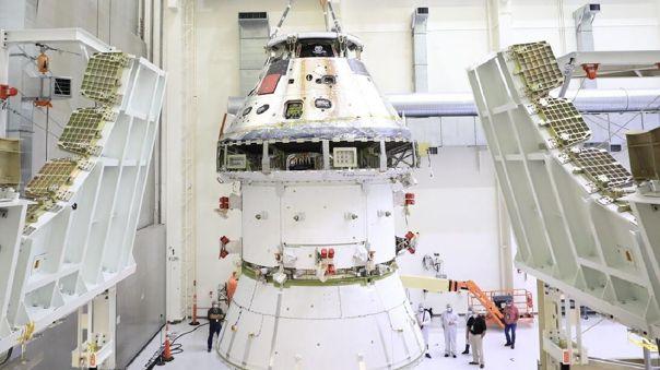 Imagen de la primera nave Orion que viajará a la Luna