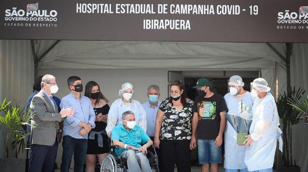 Las cifras de nuevas hospitalizaciones vienen cayendo en las últimas nueve semanas en todo el estado de Sao Paulo.