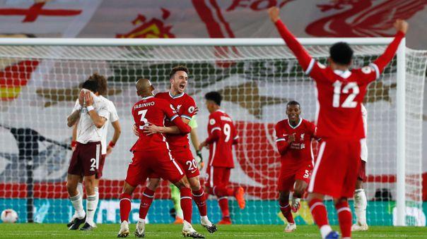 Regalo de David Luiz y a celebrar: el gol de Diogo Jota en su debut con el Liverpool