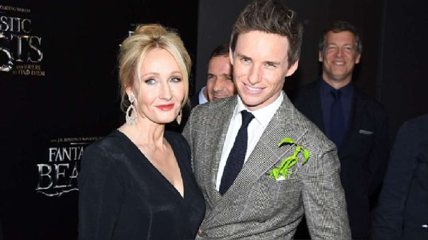J.K. Rowling y Eddie Redmayne