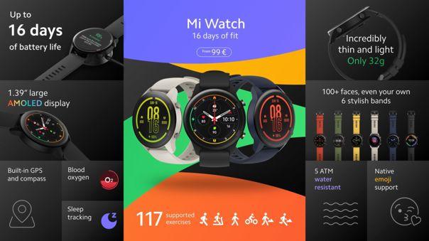 Xiaomi entra a los relojes inteligentes con su destacada línea Mi.