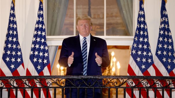 US-PRESIDENT-TRUMP-ARRIVES-BACK-AT-WHITE-HOUSE-AFTER-STAY-AT-WAL