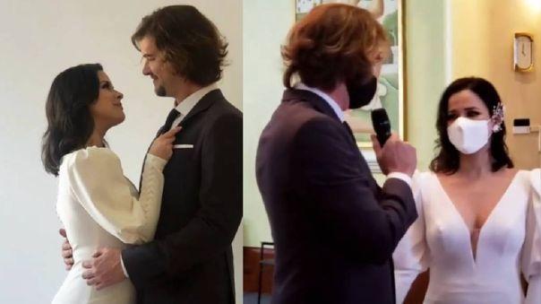Karina Jordán y Diego Seyfarth se casaron.