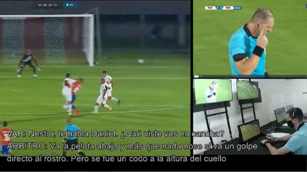 Carlos Zambrano fue amonestado por falta sobre Miguel Almirón