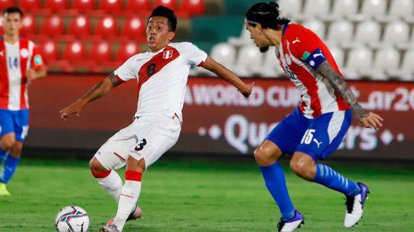 Christian Cueva jugó 64 minutos ante Paraguay en Asunción