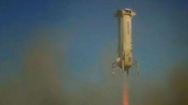 Simulación de alunizaje de un cohete New Shepard con el nuevo sensor de precisión de la NASA.