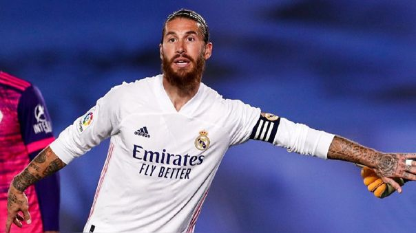 Sergio Ramos se lesionó en el partido de LaLiga ante Cádiz