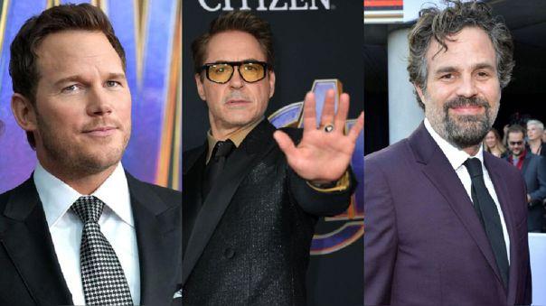 Chris Pratt, Robert Downey Jr. y Mark Ruffalo