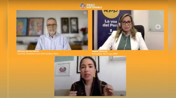 Mabel Huertas representó a RPP en el conversatorio virtual de Perú Sostenible.