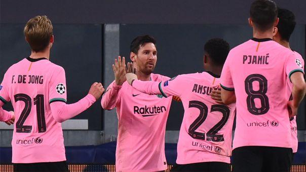 Celebra Lionel Messi.