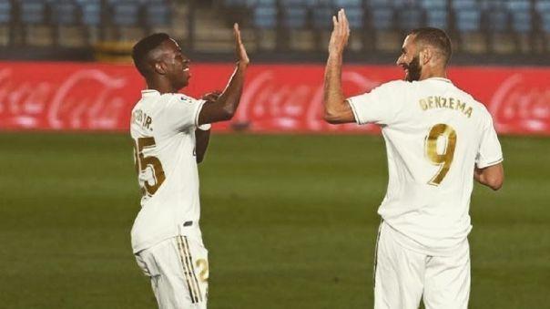 Karim Benzema y Vinicius Junior