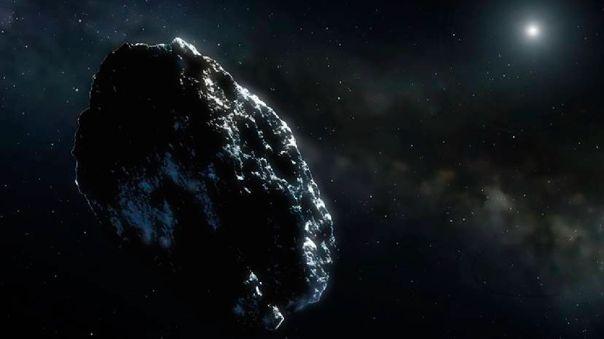 Ilustración de un asteroide.