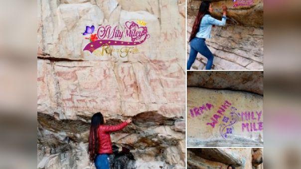 Atentado contra pinturas rupestres