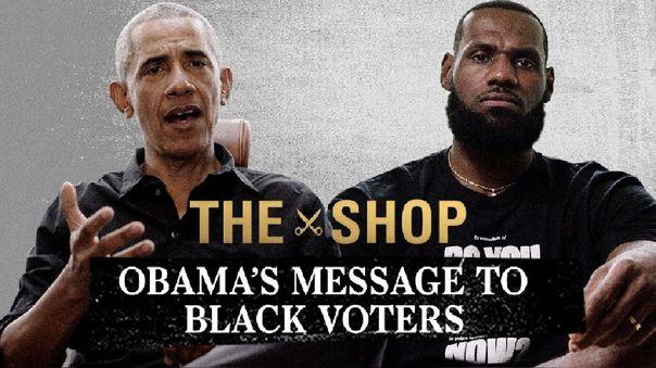 Barack Obama y LeBron James