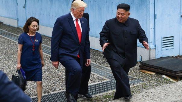 Trump se convirtió en el primer presidente estadounidense en pisar Corea del Norte.