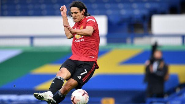 Edinson Cavani anotó su primer gol con Manchester United