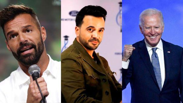 Ricky Martin y Luis Fonsi en apoyo a Biden