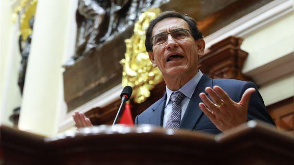 El presidente Martín Vizcarra se presentó esta mañana ante el Congreso.